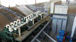 Dewatering Screen with Hydrocyclones